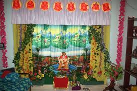 Home Decoration Material Ganpati Decoration Ideas At Home Images Decor Ideas