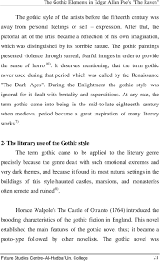 the gothic elements in edgar allan poe s the raven pdf the gothic paintings presented violence through surreal fearful images in order to provide the sense