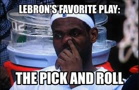 Lebron James' favorite play: The pick and roll! #NBA #Heat ... via Relatably.com