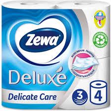 <b>Туалетная бумага Zewa Deluxe</b> Белая, 3 слоя, 4 рулона — купить ...