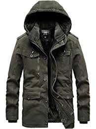 JEWOSOR <b>Mens</b> Winter Heavy Duty Thick Wool Lining Military ...