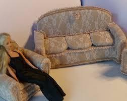 beautiful burlap and lace three piece barbie living room furniture set burlap furniture