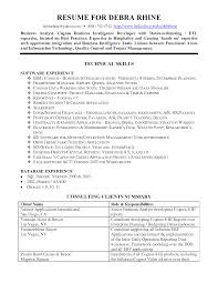 business objects resumes shopgrat cover letter business intelligence resume example technical skills business objects resumes