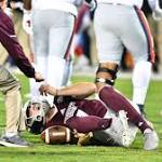 Bulldogs' Nick Fitzgerald injured early in Egg Bowl