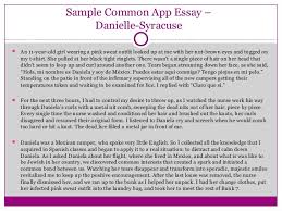 personal college essay sample