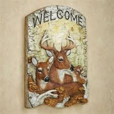 <b>Deer</b> Family Welcome Wall Plaque