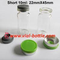 22X45 10ml vial with black cap, butyl stopper Free Shipping <b>DHL</b> ...