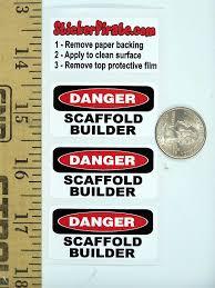 com danger scaffold builder oilfield hard hat helmet com 3 danger scaffold builder oilfield hard hat helmet sticker h543 automotive
