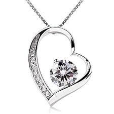 B.Catcher Women Necklace Forever Love <b>Heart Pendant</b> Necklace ...