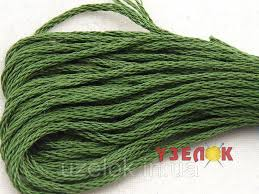 Нитки <b>мулине Гамма</b> (<b>Gamma</b>) для вышивания №<b>3156</b> Зеленый ...