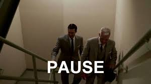 mad men don draper gives it to roger sterling on the stairs art roger sterling office