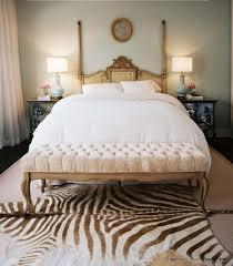 chic bedroom with zebra print rug chic zebra print rug
