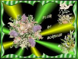 """Résultat de recherche d'images pour """"gifs bouquet de muguet 1er mai"""""""