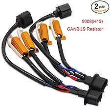 SEALIGHT 9008/H13 LED Resistor Kit Relay Harness ... - Amazon.com