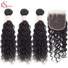 <b>LS Hair</b> remy <b>human hair</b> 3 <b>bundles</b> deal with frontal 13*4 natural ...