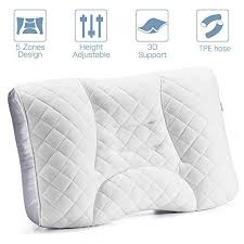 LUXEAR Bed <b>Pillow</b>, <b>Adjustable Pillow</b> for Sleeping, Fill with ...