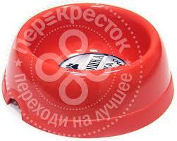 Купить <b>Миска</b> для животных Хорошка красная <b>1.2л</b> с доставкой ...
