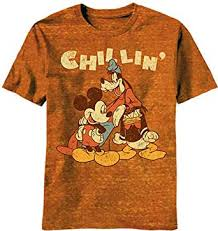 <b>Disney Mickey Mouse</b> Chillin <b>Trio</b> Boys Orange Burnout T-Shirt ...
