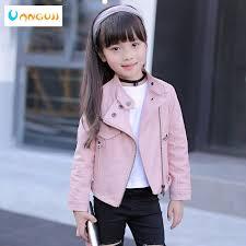 <b>girls pu jacket rivet</b> zipper cool jacket Leather clothing for girls 5 13 ...