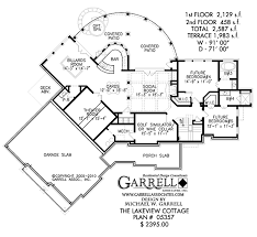 Lakeview Cottage House Plan   Craftsman House Plans    lakeview cottage house plan   terrace floor plan