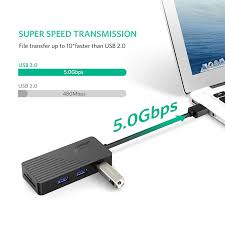 Ugreen <b>5 in 1 USB</b> HUB with Card Reader 3 Port USB 3.0 HUB ...