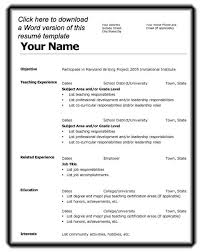 resume template microsoft word 2007 free resume template word 2007