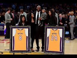 <b>Kobe</b> Bryant No.8 & No.24 Jersey Retirement In Los Angeles ...