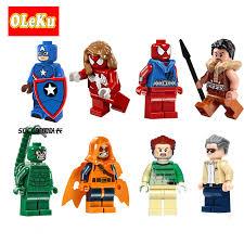Single Sale Super Heroes Figures Bricks Stan Lee SDCC Captain ...