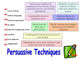 year persuasive writing persuasive writing techniques and search persuasive techniques