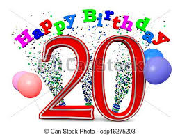 Image result for 20th birthday cake clip art
