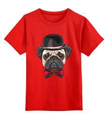 Детская <b>футболка классическая</b> унисекс Мопс. #386949 за 950 ...