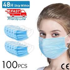 100pcs Anti-Pollution Face Masks Ordinary Nonmedical Disposable ...