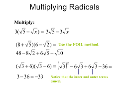 Simplifying radical expressions, rational exponents, radical equations13. Multiplying ...