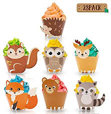 Yaaaaasss! 28PCS Woodland Animal Cupcake ... - Amazon.com