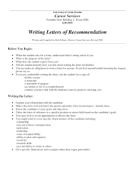 example of letter of recommendation for job recommendation job