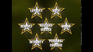iers creed army values