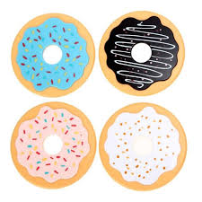 <b>Donut</b> Beverage Coaster Round Cup Silicone Mat Drink <b>Thermal</b> ...