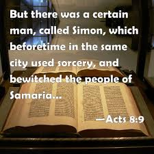 Image result for Acts 8:9