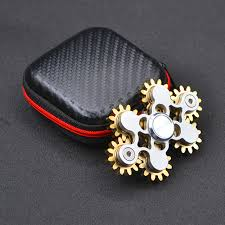 new gears fidget spinner toys metal brass gear finger hand edc spinning top stress relief for adhd