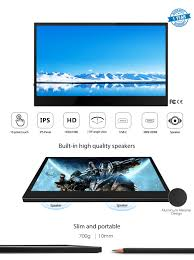 CrowVi 13.3 Inch 1920x1080 HD IPS <b>Portable Monitor</b> with ...