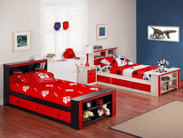blue and white color for boys bedroom with double single storage f bed ebony hardwood floor boy furniture bedroom