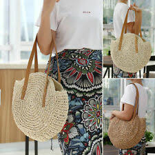 Straw <b>Large Beach Bags</b> & Handbags for Women | eBay