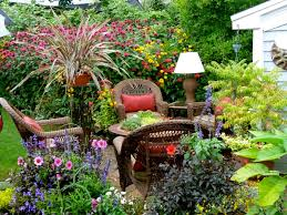 small flower garden design with outdoor rattan furniture sets beautiful furniture small spaces beautiful design