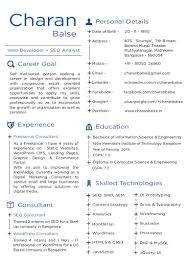 seo analyst resume