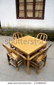 chinese bamboo furniture set in a temple chinese bamboo furniture