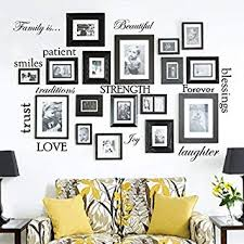 Set of 12 <b>Family Quote</b> Words Vinyl <b>Wall Sticker</b> Picture Frame Wall ...