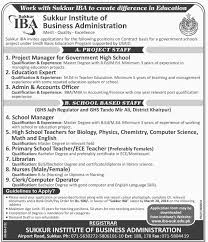 sukkur institute of business administration jobs opportunities