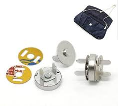 Buy Housweety <b>20 Sets Silver Tone</b> Magnetic Purse Snap Clasps ...