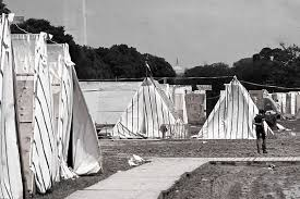 martin luther king jr rows of tents