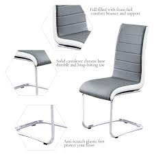 Set of 6 <b>Cantilever Dining Chairs</b> Modern- Buy Online in ...
